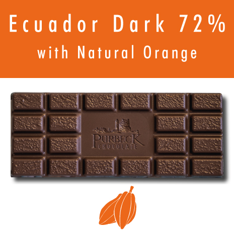 Single Origin Vegan Dark Chocolate with Natural Orange