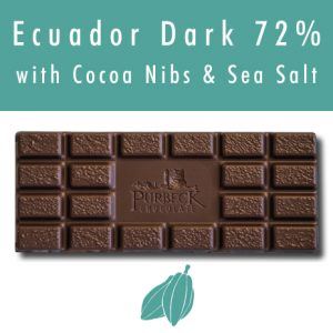 Single Origin Vegan Dark Chocolate with Cocoa Nibs and Sea Salt