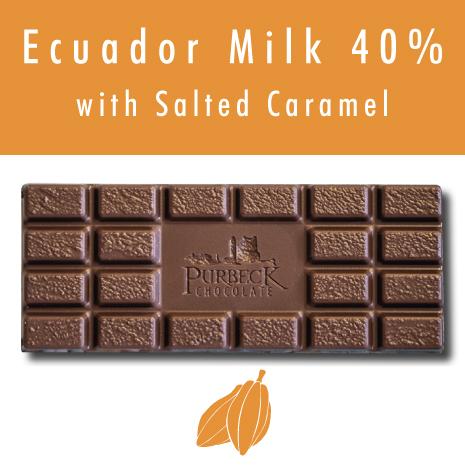 Single Origin Purbeck Milk Chocolate with Salted Caramel