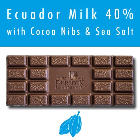 Single Origin Purbeck Milk Chocolate with Cocoa Nibs & Sea Salt